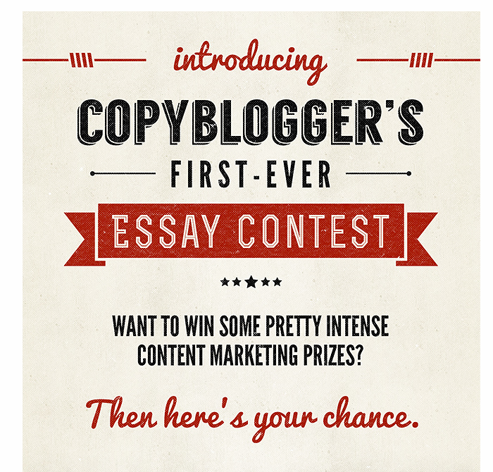 Copy Blogger Offers an Essay Contest